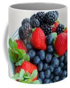 Three Fruit 2 - Strawberries - Blueberries - Blackberries Coffee Mug