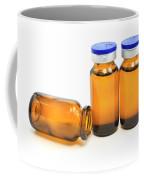 Three Glass Bottles With Medicine Coffee Mug
