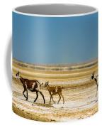 Three Goats In A Desert Coffee Mug