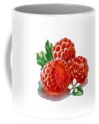 Three Happy Raspberries Coffee Mug