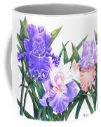 Three Irises Coffee Mug