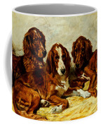 Three Irish Red Setters Coffee Mug by John Emms