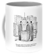 Three Mafiosi/gangsters Stand Around An Open Coffee Mug