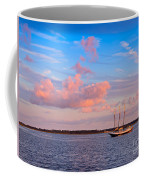 Three Masted Schooner At Anchor In The St Marys River Coffee Mug