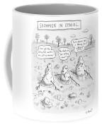 Three Melting Snowmen Are In Denial Coffee Mug