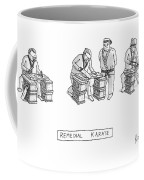 Three Men In Karate Outfits Stand In Front Coffee Mug