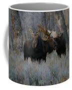Three Moose In The Woods Coffee Mug