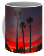 Three Palm Sunset Coffee Mug