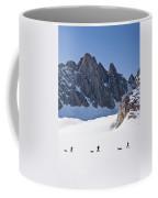 Three People Ski-tour On Karale Glacier Coffee Mug