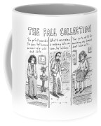Three People Wearing Different Outfits For Fall Coffee Mug