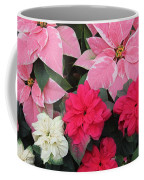 Three Pink Poinsettias Coffee Mug
