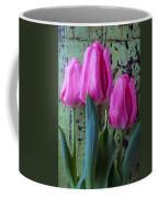 Three Pink Tulips Coffee Mug