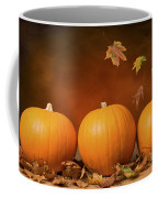 Three Pumpkins Coffee Mug by Amanda Elwell