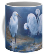 Three Snowy Egrets Coffee Mug
