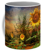 Three Sunflowers Coffee Mug