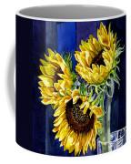 Three Sunny Flowers Coffee Mug by Irina Sztukowski