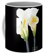 Three Tall Calla Lilies Coffee Mug