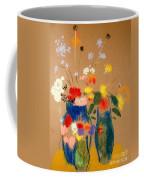 Three Vases Of Flowers Coffee Mug