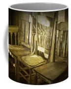 Three Vintage Wooden Chairs Coffee Mug