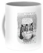 Three Witches Stir A Large Wok Coffee Mug by Roz Chast