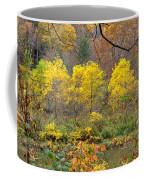 Three Yellow Trees Coffee Mug