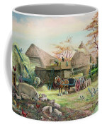 Threshing In Kent Coffee Mug by Dudley Pout