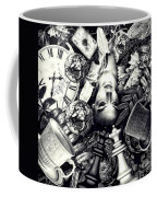 Through The Looking-glass Coffee Mug by Mo T