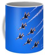 Thunderbirds Jet Team Flying Fast Coffee Mug