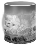 Thunderstorm Clouds And The Little House On The Prarie Bw Coffee Mug