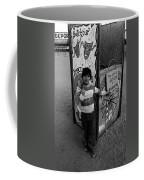 Ticket Booth Traveling Carnival Us Mexico Border Naco Sonora Mexico 1980 Coffee Mug