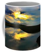 Tidal Pond Sunset New Zealand Coffee Mug