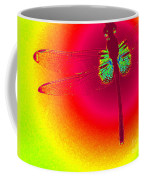 Tie Dye Dragonfly Coffee Mug