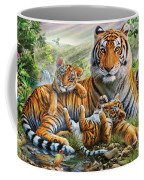 Tiger And Cubs Coffee Mug by Adrian Chesterman