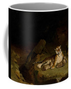 Tiger And Cubs Coffee Mug