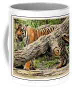Tiger By The Log Coffee Mug
