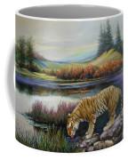 Tiger By The River Coffee Mug