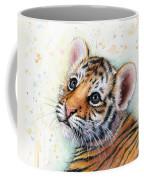 Tiger Cub Watercolor Art Coffee Mug