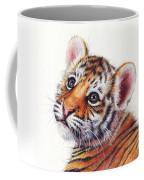 Tiger Cub Watercolor Painting Coffee Mug