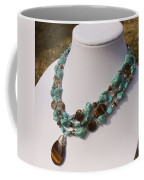 Tiger Eye And Turquoise Triple Strand Necklace 3640 Coffee Mug