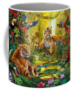 Tiger Family In The Jungle Coffee Mug by Jan Patrik Krasny