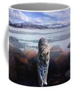 Tiger In A Lake Coffee Mug