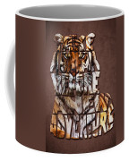 Tiger Majesty Typography Art Coffee Mug