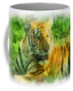 Tiger Resting Photo Art 01 Coffee Mug
