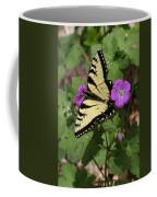 Tiger Swallowtail Butterfly On Geranium Coffee Mug