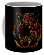 Tiger Watercolor - Black Coffee Mug