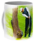 Tiger Woods Hits A Shot From The Rough Coffee Mug