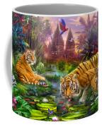 Tigers At The Ancient Stream Coffee Mug by Jan Patrik Krasny