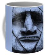 Tiki Mask Cyan Coffee Mug