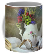 Time In A Pocket Coffee Mug by Diana Angstadt