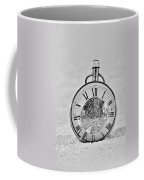 Time In The Sand In Black And White Coffee Mug